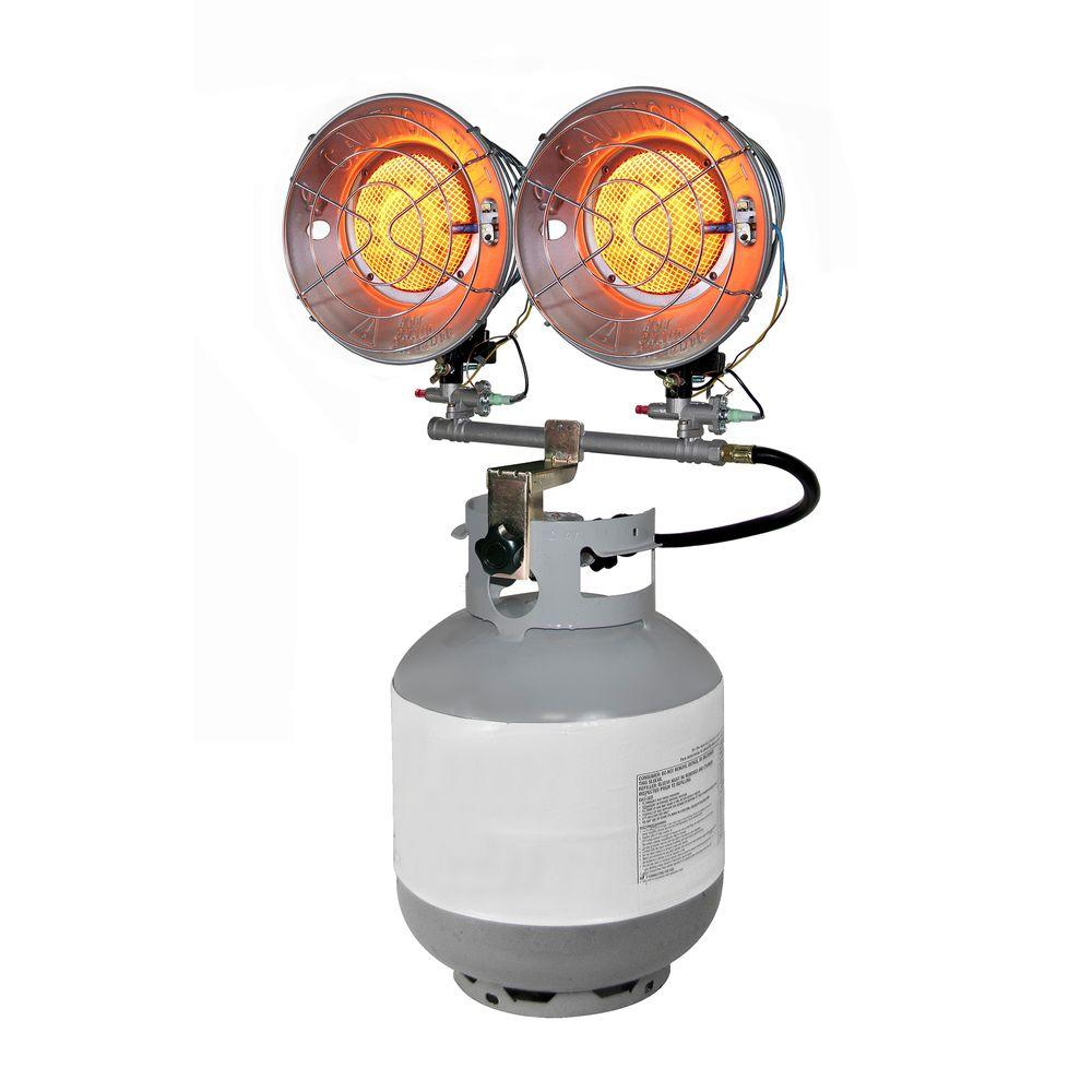Dyna Glo Double Burner 30 000 Btu Radiant Tank Top Propane