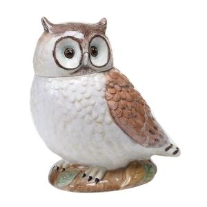 The Rustic Nature Collection 3-D Owl Cookie Jar by