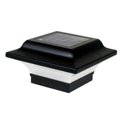 2.5 in. x 2.5 in. Black Aluminum Imperial Outdoor Solar Post Cap (2-Pack)