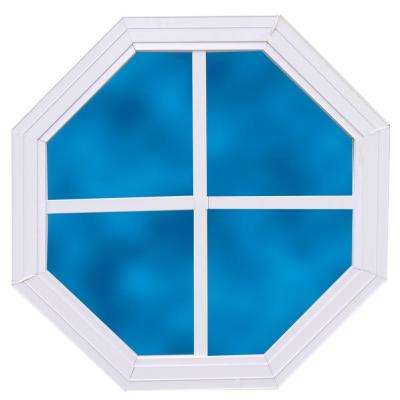 14 in. x 14 in. Decorative Octagonal Window