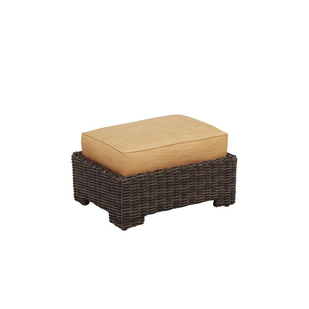 Northshore Patio Ottoman with Toffee Cushion -- CUSTOM