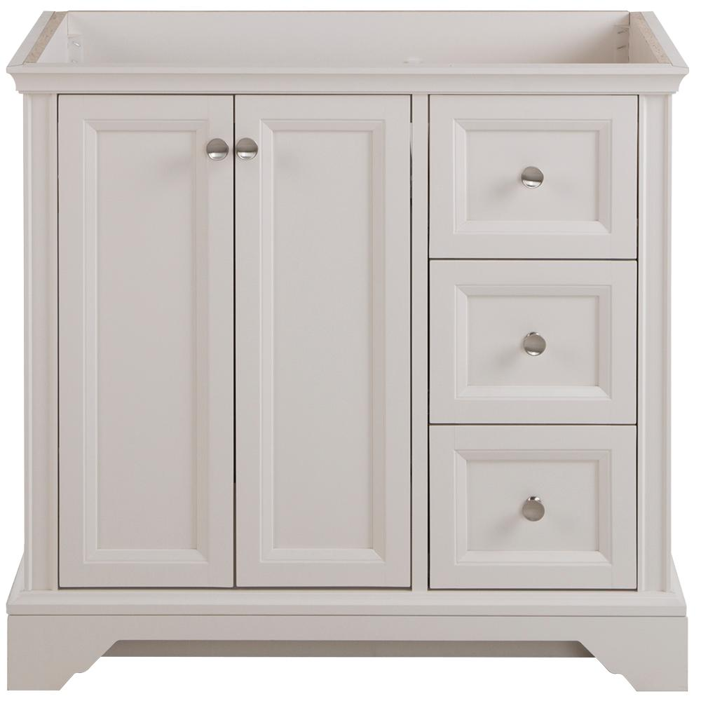 Home Decorators Collection Stratfield 36 in. W x 22 in. D x 34 in. H Bath Vanity Cabinet Only in Cream