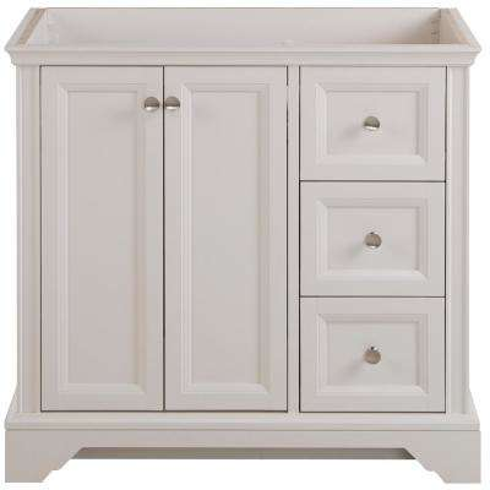 Stratfield 36 in. W x 22 in. D x 34 in. H Bath Vanity Cabinet Only in Cream