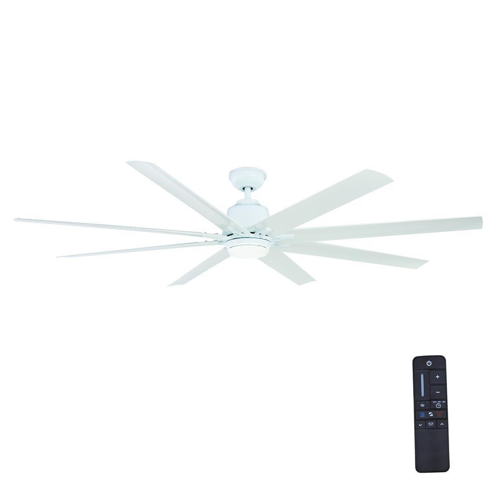 Home Decorators Collection Kensgrove 72 In Led Indoor Outdoor White Ceiling Fan With Light Kit And Remote Control Yg493od Wh The Home Depot