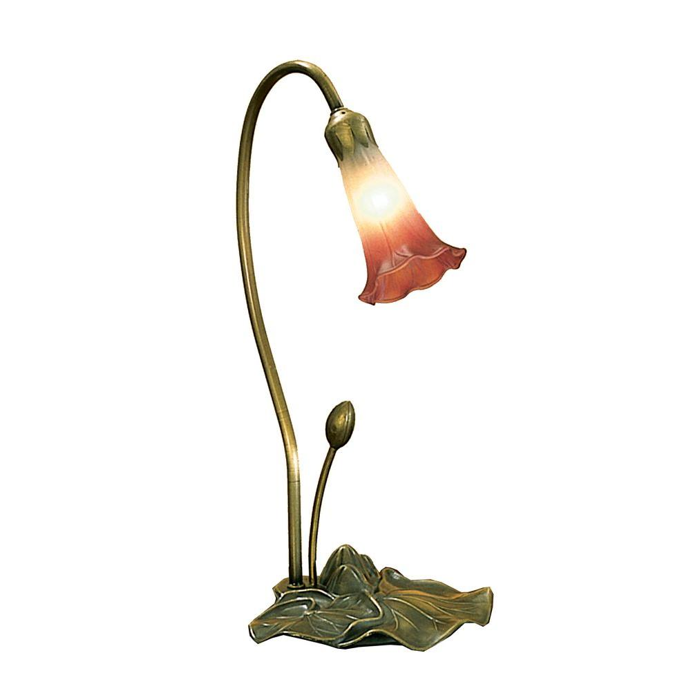 Illumine 1 Light Pink/White Pond Lily Accent Lamp