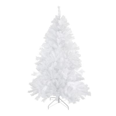 7 ft. Unlit Spruce Artificial Christmas Tree, Icy White
