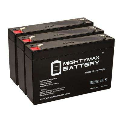 6-Volt 7 Ah Sealed Lead Acid Rechargeable Battery (3-Pack)