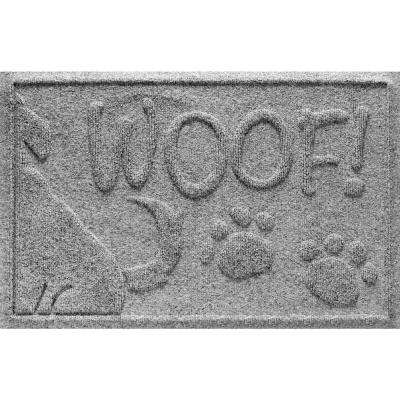 Medium Gray 18 in. x 28 in. Wag the Dog Polypropylene Pet Mat