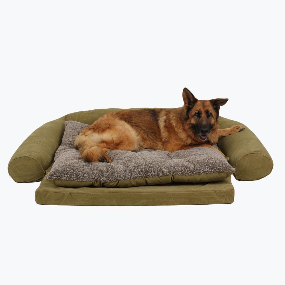 Groovy Large Ortho Sleeper Comfort Couch Pet Bed With Removable Cushion Sage Ncnpc Chair Design For Home Ncnpcorg