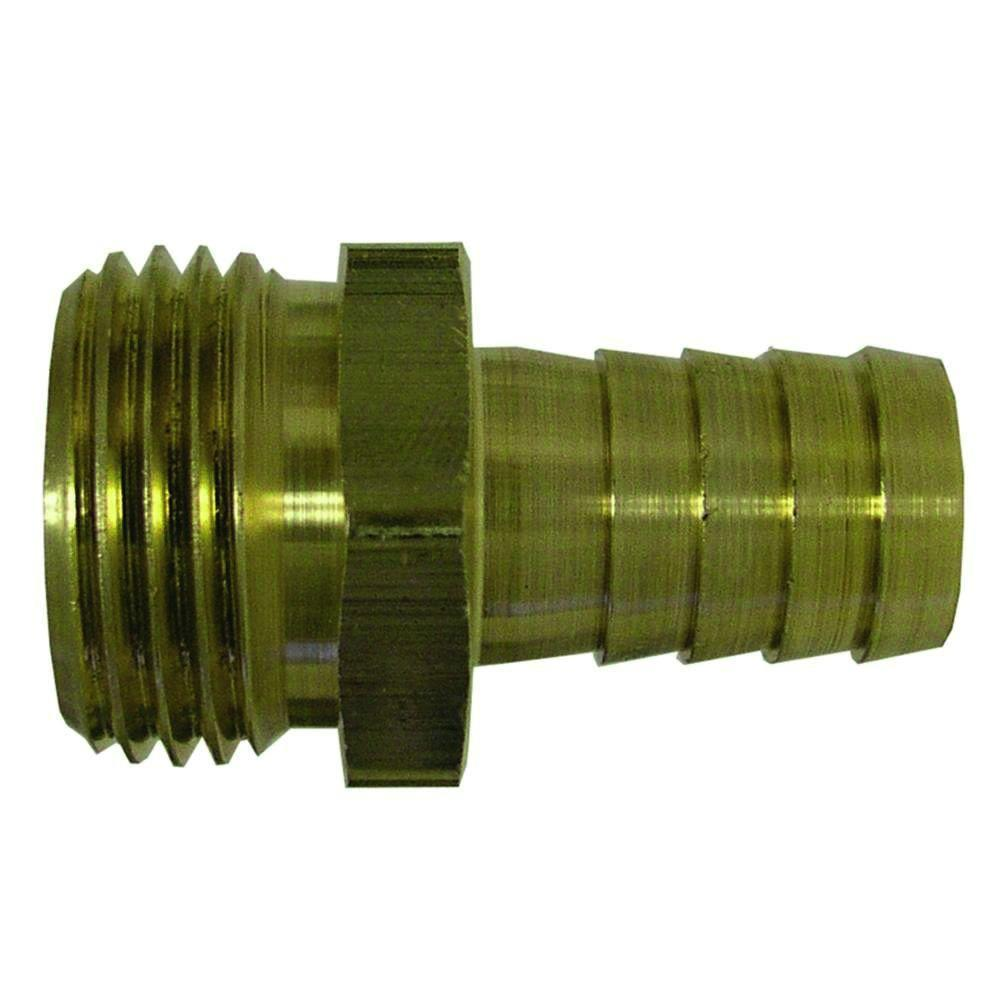 1/2 in. x 3/4 in. Lead-Free Brass Barb x MGH Adapter