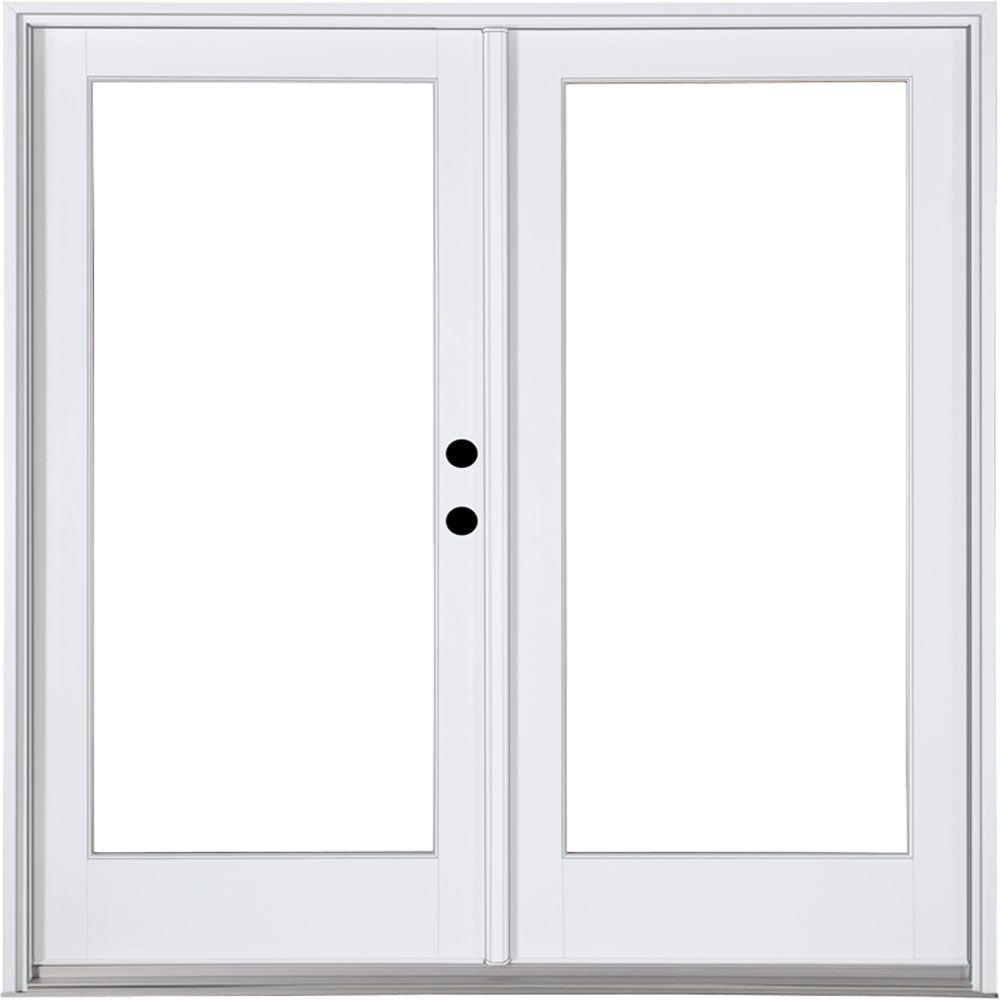 Mp doors 72 in x 80 in fiberglass smooth white left hand inswing mp doors 72 in x 80 in fiberglass smooth white left hand inswing hinged patio door hn6068l00201 the home depot planetlyrics Image collections