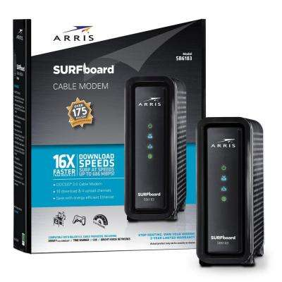 SURFboard DOCSIS 3.0 Cable Modem SB6183 in Black