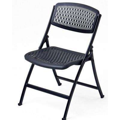 Oversized Black Metal Folding Chair (Set of 4)
