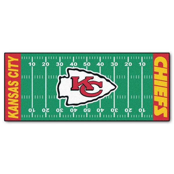 Kansas City Chiefs 3 ft. x 6 ft. Football Field Rug Runner Rug