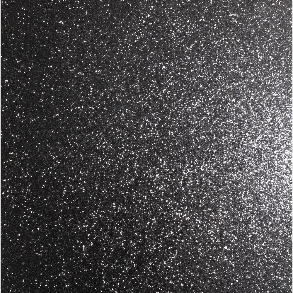 Sequin Sparkle Black Non-woven Wallpaper