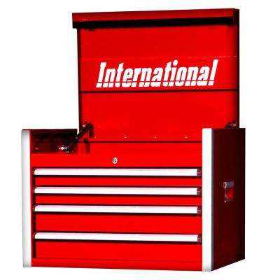 Pro Series 27 in. 4-Drawer Top Chest, Red