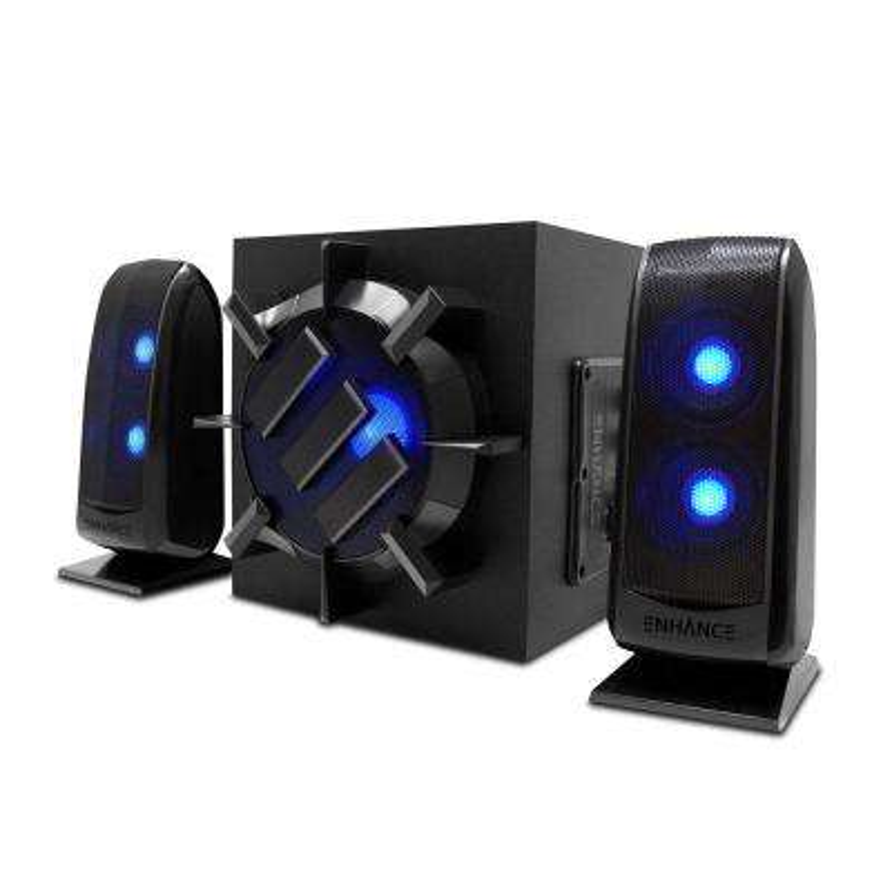 Enhance 2.1 Speakers - 80-Watt Peak Stereo Sound with Subwoofer