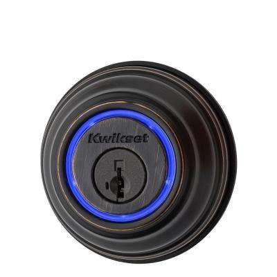 Kevo 2nd Gen Single-Cylinder Venetian Bronze Touch-to-Open Bluetooth Smart Lock Deadbolt works with many Smart Devices