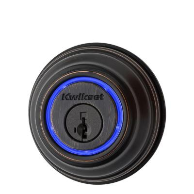 Kevo 2nd Gen Venetian Bronze Single Cylinder Touch-to-Open Bluetooth Smart Lock Deadbolt Works with Many Smart Devices