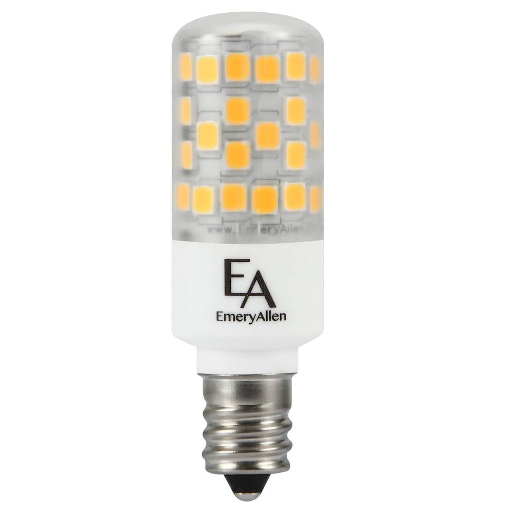 50-Watt Equivalent E12 Base Dimmable 4000K LED Light Bulb Cool White (2-Pack)