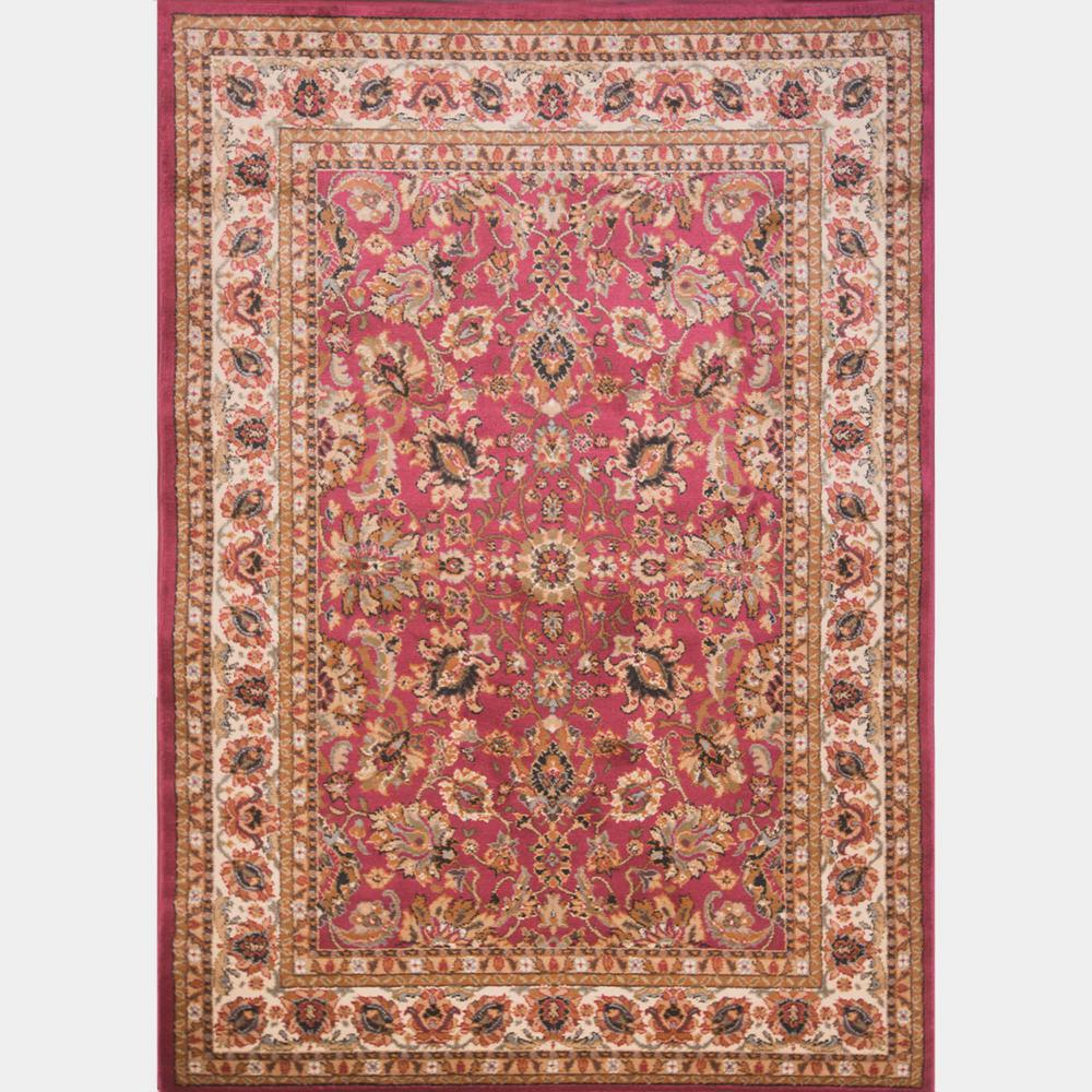 Home Dynamix Royalty Red 8 Ft X 10 Indoor Area Rug