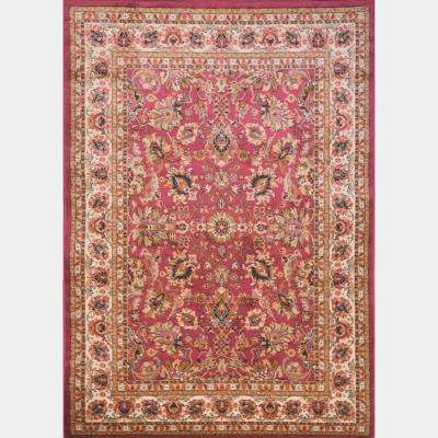 Royalty Red 7 ft. 8 in. x 10 ft. 4 in. Indoor Area Rug