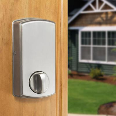 Castle Satin Nickel Single Cylinder Spin-To-Lock Electronic Keypad Deadbolt