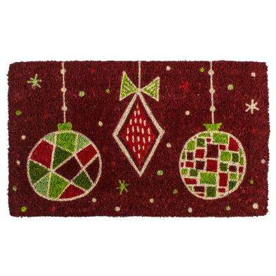 Geo Ornaments 18 in. x 30 in. Hand Woven Coconut Fiber Door Mat