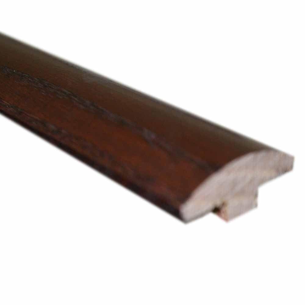 Oak Dark Gunstock 5/8 in. Thick x 2 in. Wide x 78 in. Length Hardwood T-Molding