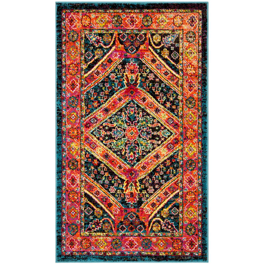 tayse rugs dynasty orange and pink 3 ft x 5 ft contemporary area rug dns1129 3x5 the home depot. Black Bedroom Furniture Sets. Home Design Ideas