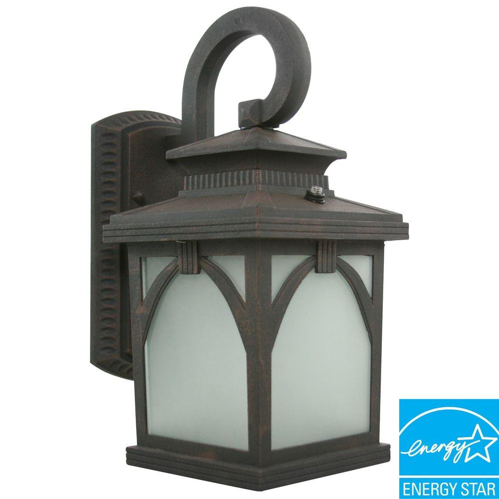 Efficient Lighting Rustic Outdoor Wall Lantern in Victorian Bronze Finish with Bulbs -DISCONTINUED