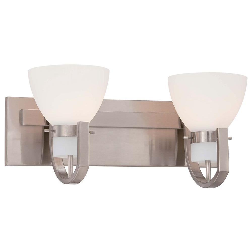 Hudson Bay 2-Light Brushed Nickel Bath Light