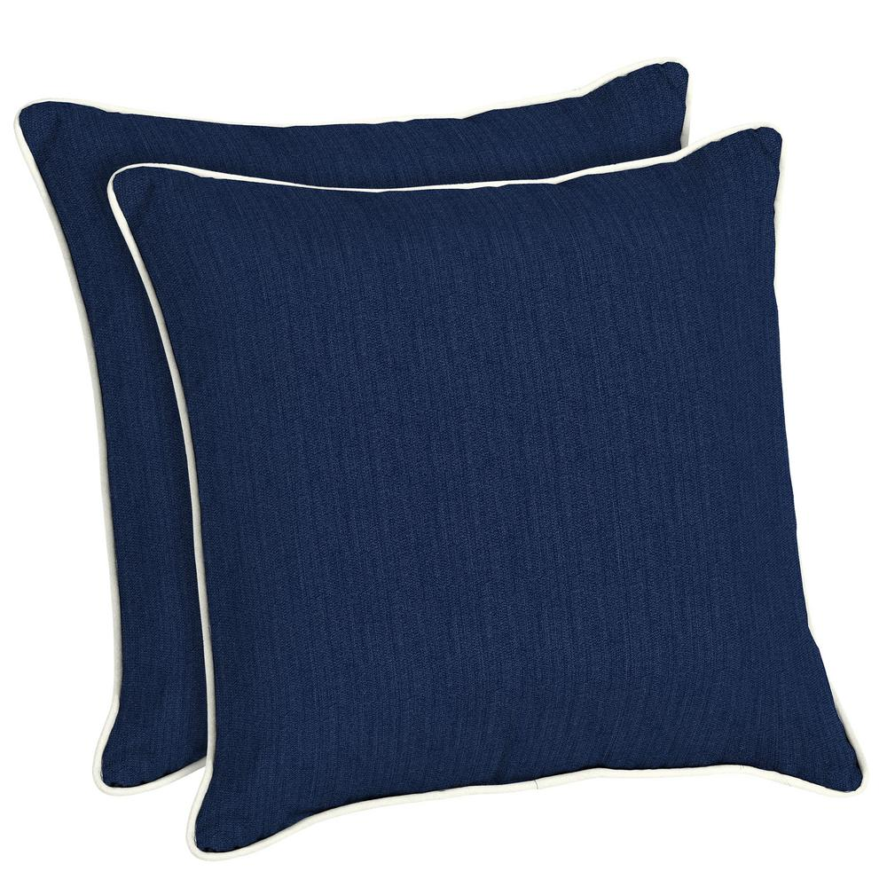 Sunbrella Spectrum Indigo Square Outdoor Throw Pillow (2-Pack)