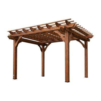 Cedar Pergola - Pergolas - Sheds, Garages & Outdoor Storage - The Home Depot