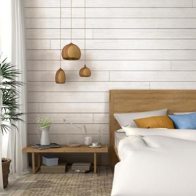 1 in. x 8 in. x 6 ft. Barn Wood White Shiplap Pine Board (6-Pack)
