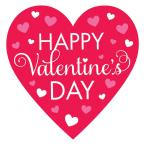 15.5 in. Valentine's Day Happy Valentine's Day Heart Cutouts (9-Pack)