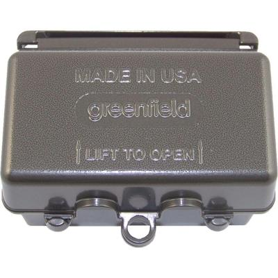 Weatherproof Electrical box While-In-Use Cover - Horizontal - Bronze