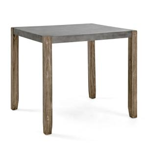 Newport Light Amber Wood and Gray Concrete and Wood Counter Height Dining Table