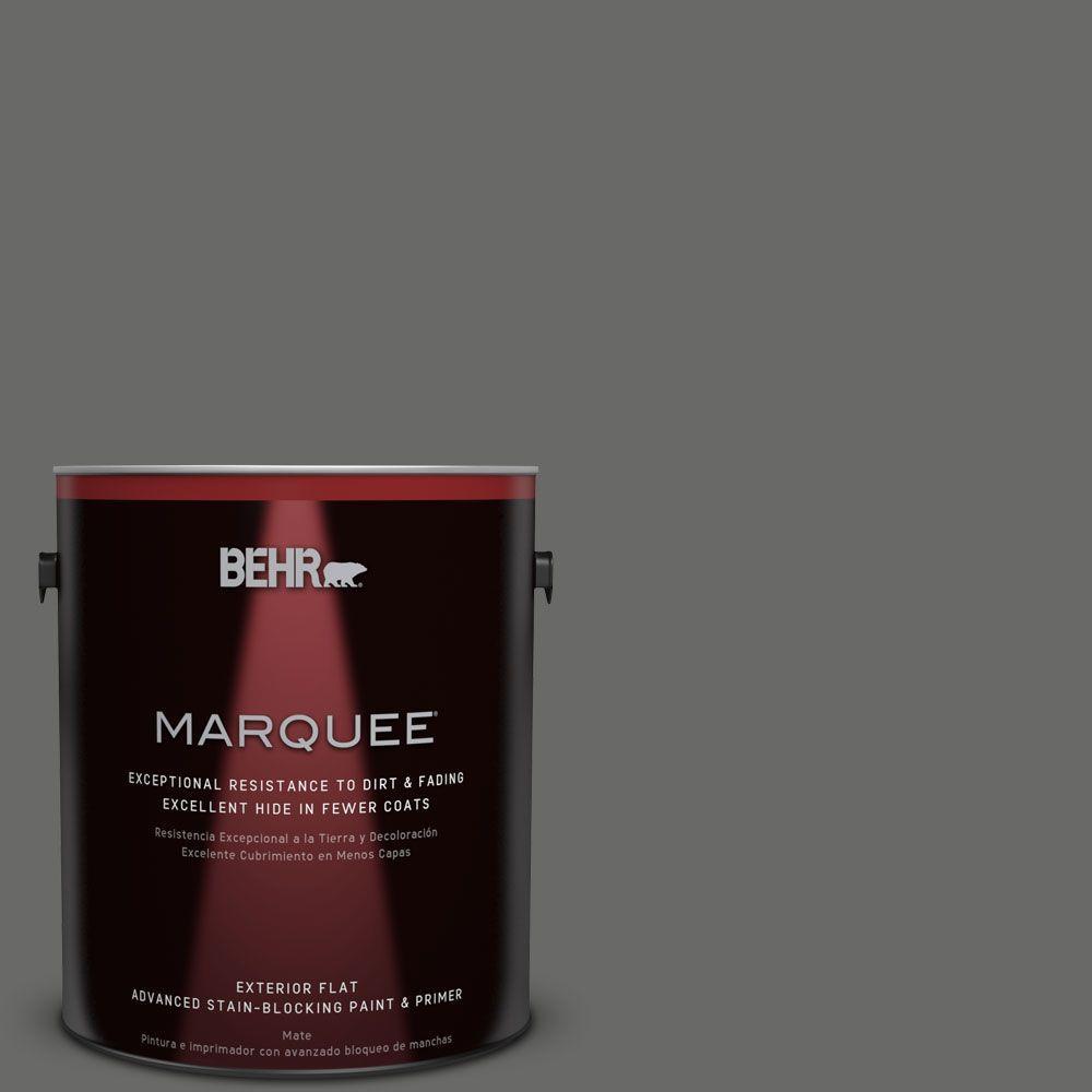 1-gal. #BXC-63 Molten Lead Flat Exterior Paint