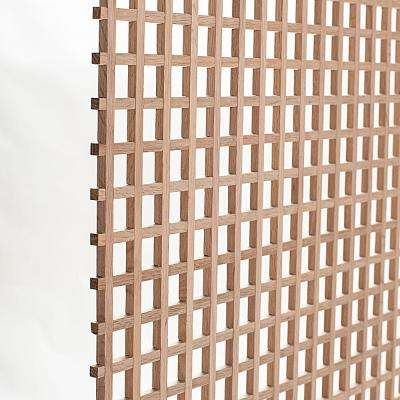 24 in. x 35-3/4 in. x 3/8 in. Unfinished Square Solid North American Red Oak Lattice Panel Insert