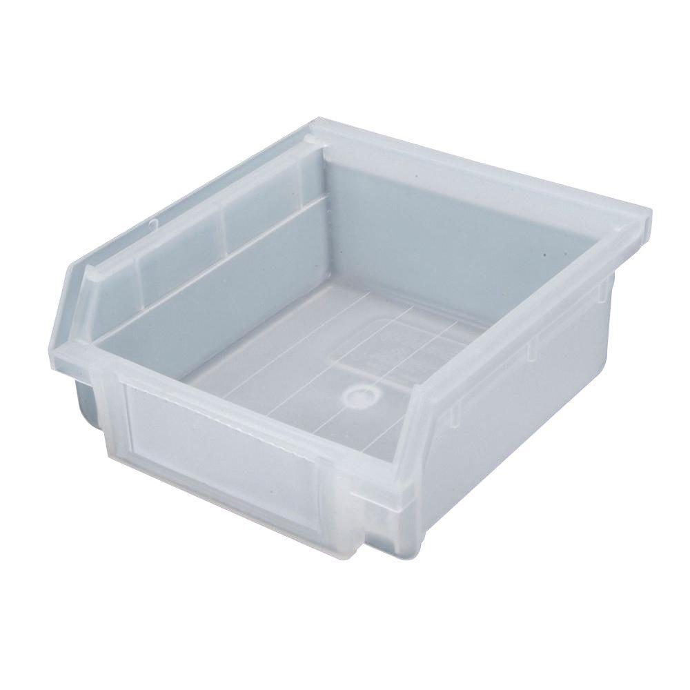 Triton Products Non Stacking Small Hanging Storage Bin Translucent (30 Pack)