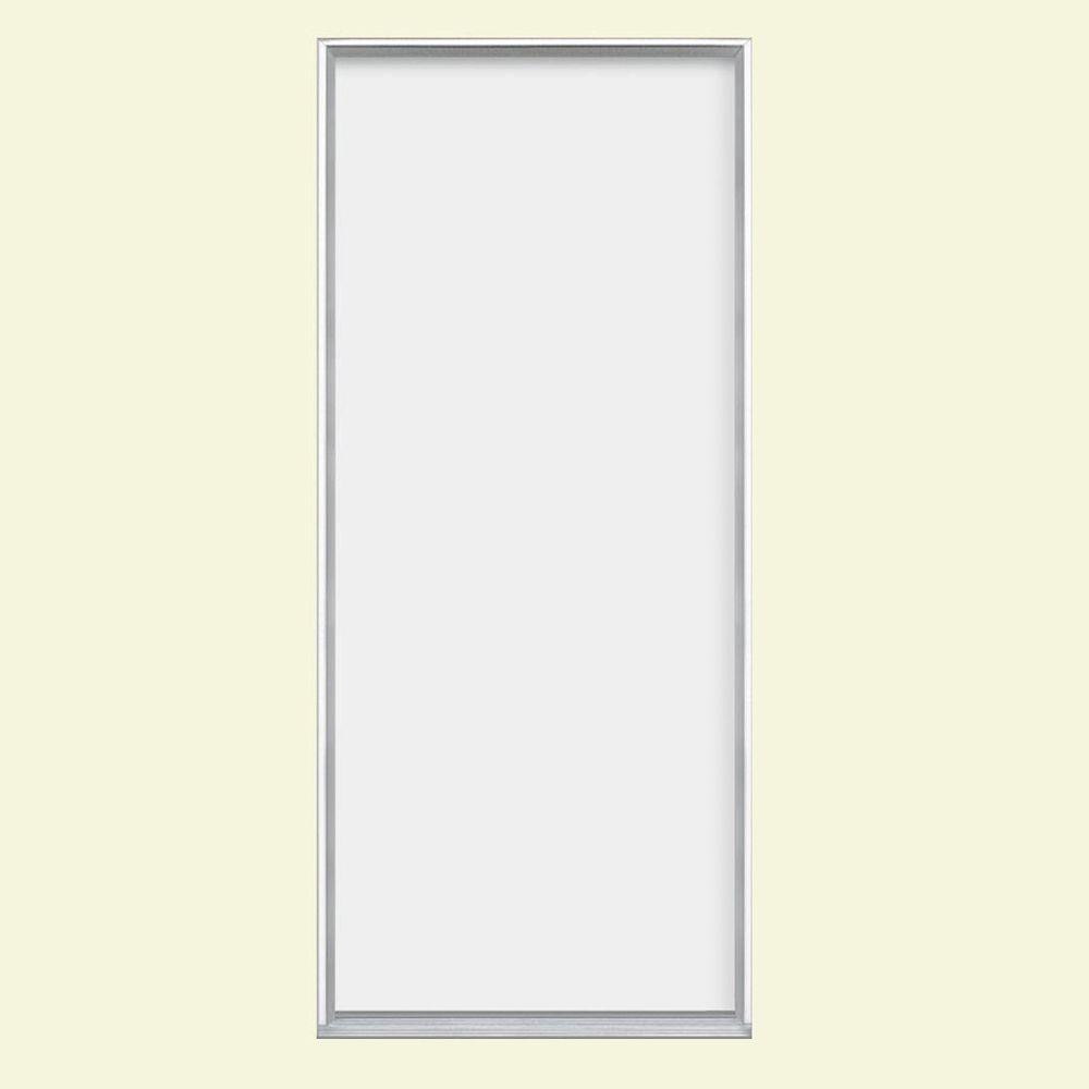 Masonite 32 in. x 80 in. Flush Primed Steel Prehung Front Door with No Brickmold in Vinyl Frame