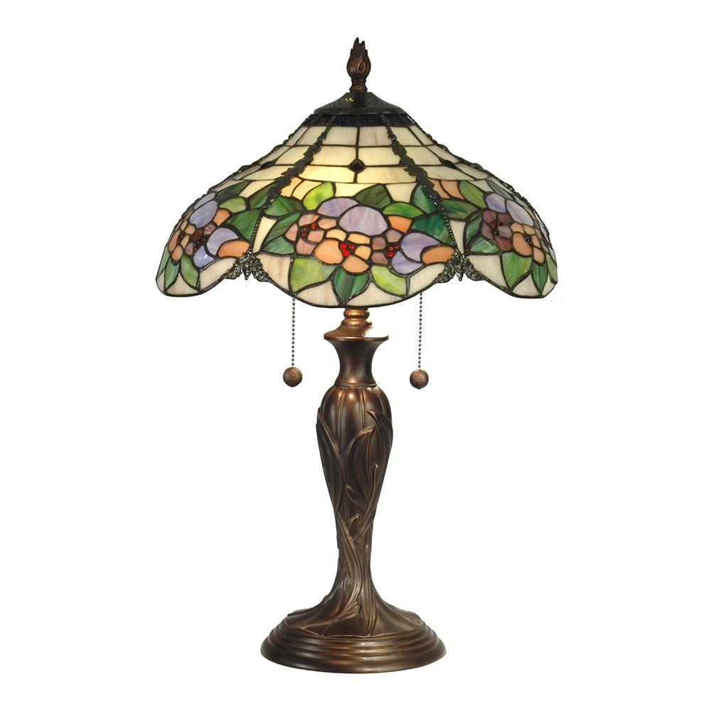 Dale Tiffany 23 In Chicago Antique Bronze Table Lamp Tt90179 The