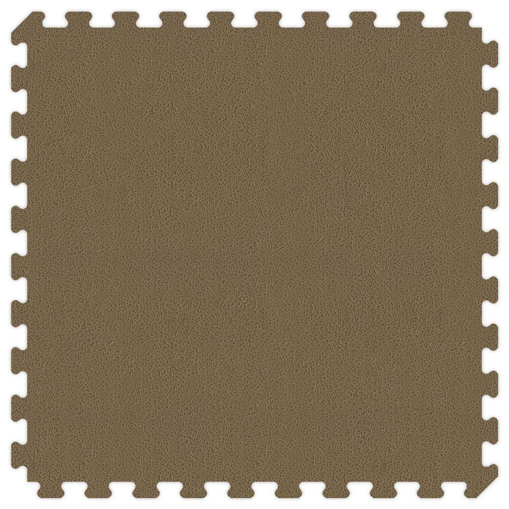 Groovy Mats Brown and Tan Reversible 24 in. x 24 in. Extra Thick Comfortable Mat (100 sq.ft. / Case)