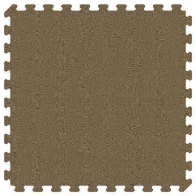 Brown and Tan Reversible 24 in. x 24 in. Extra Thick Comfortable Mat (100 sq.ft. / Case)