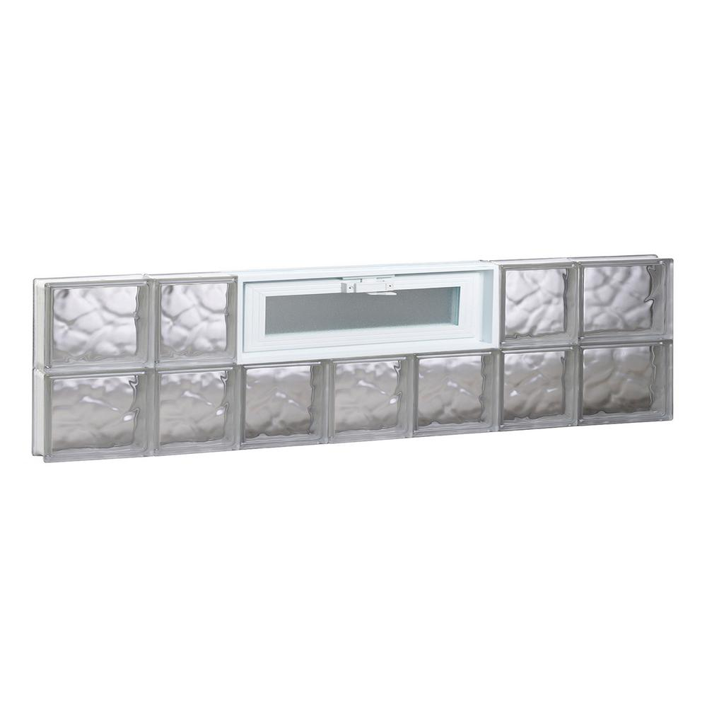 Clearly secure in x 11 5 in x in wave for Pre assembled glass block windows