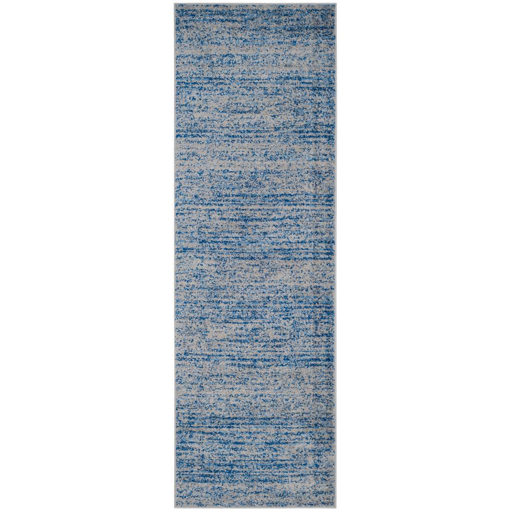 Adirondack Blue/Silver 3 ft. x 10 ft. Runner Rug