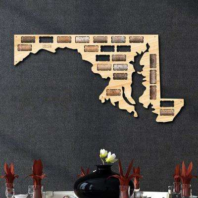 23.1 in. x 12 in. Maryland Wine Cork Map