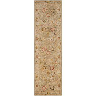 Antiquity Taupe/Beige 2 ft. x 10 ft. Runner