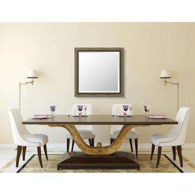 Richmond 28.375 in. x 28.375 in. Global Eclectic Framed Bevel Mirror
